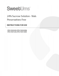 SweetUms IFU - Preservative-Free